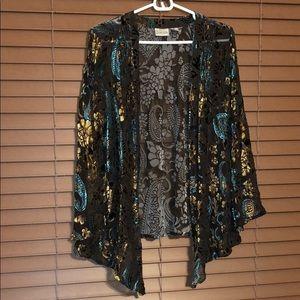 Plus Size 1 - 1X Chicos Cardigan Silk Blend Top